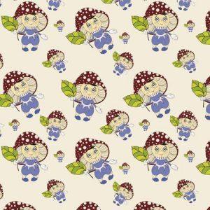рулонные шторы в детскую весёлые грибочки