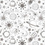 рулонные шторы в детскую космос