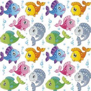 рулонные шторы в детскую рыбки
