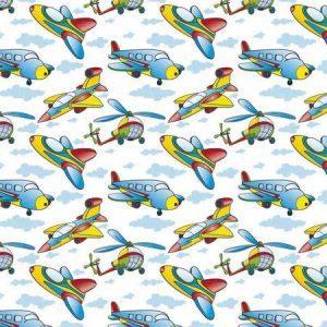 рулонные шторы в детскую самолёты вертолёты