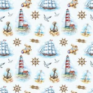 рулонные-шторы-в-детскую-корабли-маяки-якоря