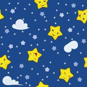 рулонные-шторы-в-детскую-звёздочки-синее-небо