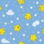 рулонные-шторы-в-детскую-звёздочки-голубое-небо
