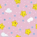 рулонные-шторы-в-детскую-звёздочки-розовое-небо