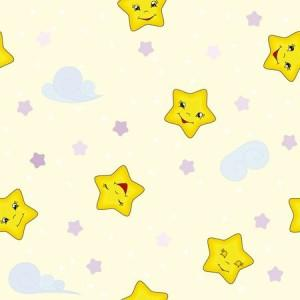 рулонные-шторы-в-детскую-звёздочки-жёлтое-небо