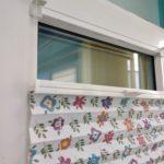Плиссе жалюзи на окне ПВХ