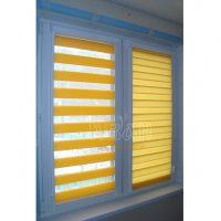 шторы день-ночь кассетные жёлтые
